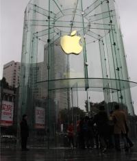 Завтра состоится открытие нового стеклянного Apple Store в Китае