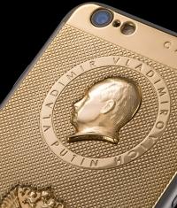 Итальянские ювелиры создали золотой iPhone 6 с портретом Путина