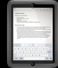 Чехол для iPad mini с тактильной отдачей
