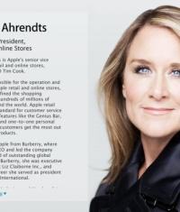 Новый руководитель сети Apple Store - Анжела Арендтс