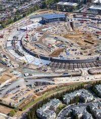 Строительство движется: новости со стройплощадки Apple Campus 2 (Видео)