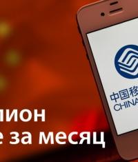 China Mobile за месяц продала почти миллион iPhone
