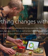 Новая реклама Apple: «Everything changes with iPad»