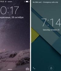 Сравнение iOS 8.1 и Android 5.0 Lollipop