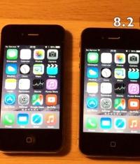 Сравнение iOS 8.2 beta 5 с iOS 8.1.3 (Видео)