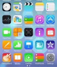 Опубликован первый скриншот рабочего стола iOS 8