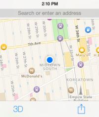 Карты Apple будут значительно обновлены в iOS 8.1