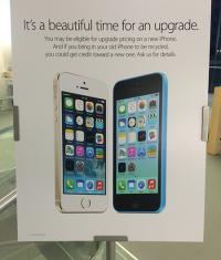 iPhone 4 и 4S можно бесплатно обновить на 5C и 5S с 2-х годовым контрактом
