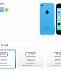В Apple Store появился iPhone 5C 8ГБ