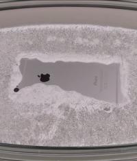 Испытание iPhone 6 горячим льдом (видео)