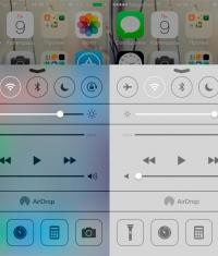 Как настроить прозрачность окон в iOS 7