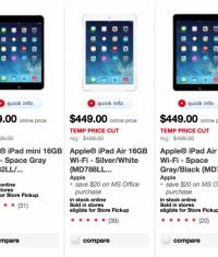 iPad mini стал дешевле на $100 (Target)