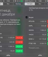 Как убрать «Акции» и другие виджеты из Центра уведомлений в iOS 7